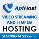 FFMPEG Hosting with AptHost